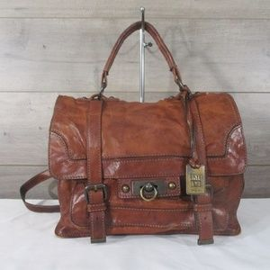 Frye Cameron Brown Leather Satchel
